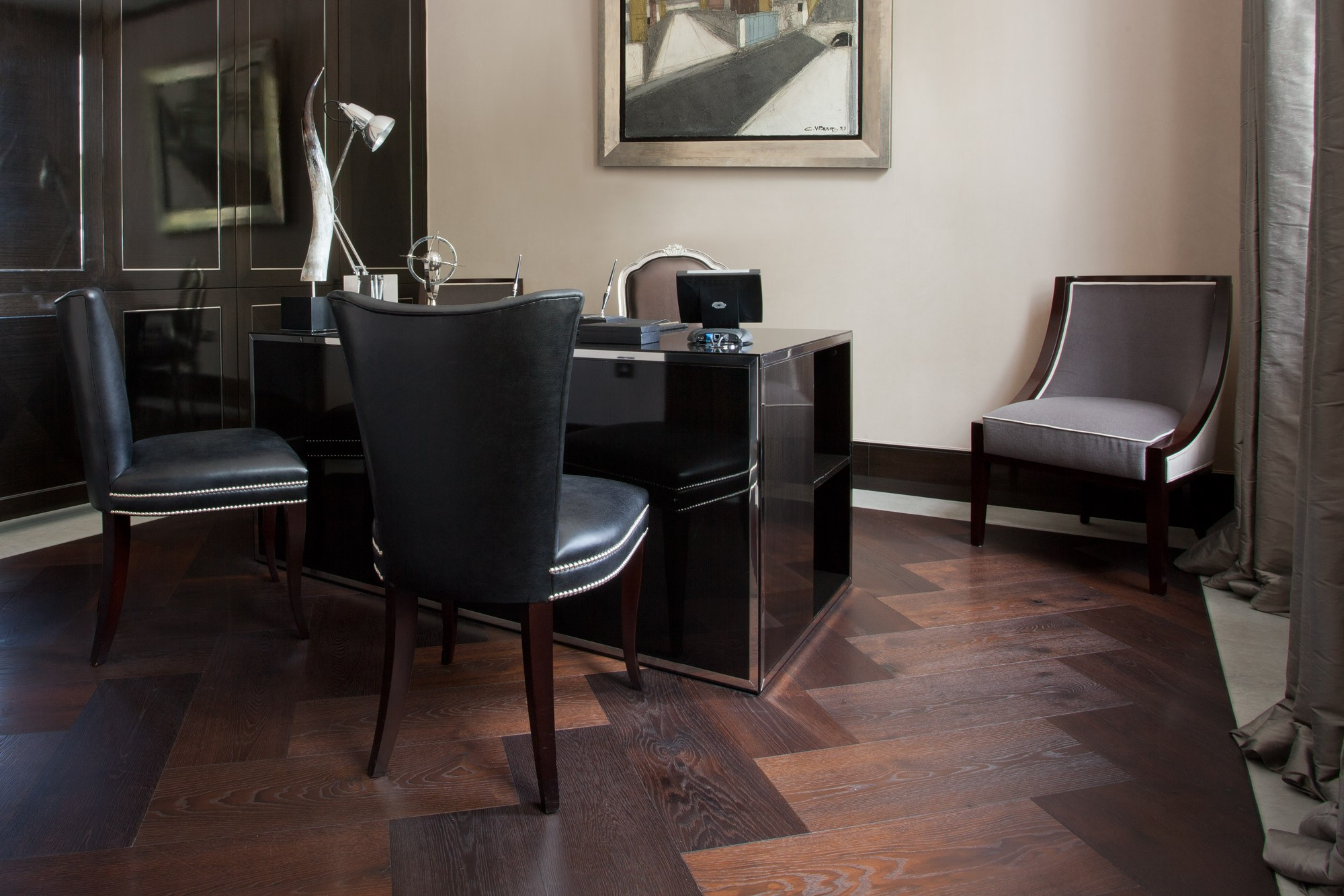 Nero Oak Parquet | XXL Herringbone | Element 7