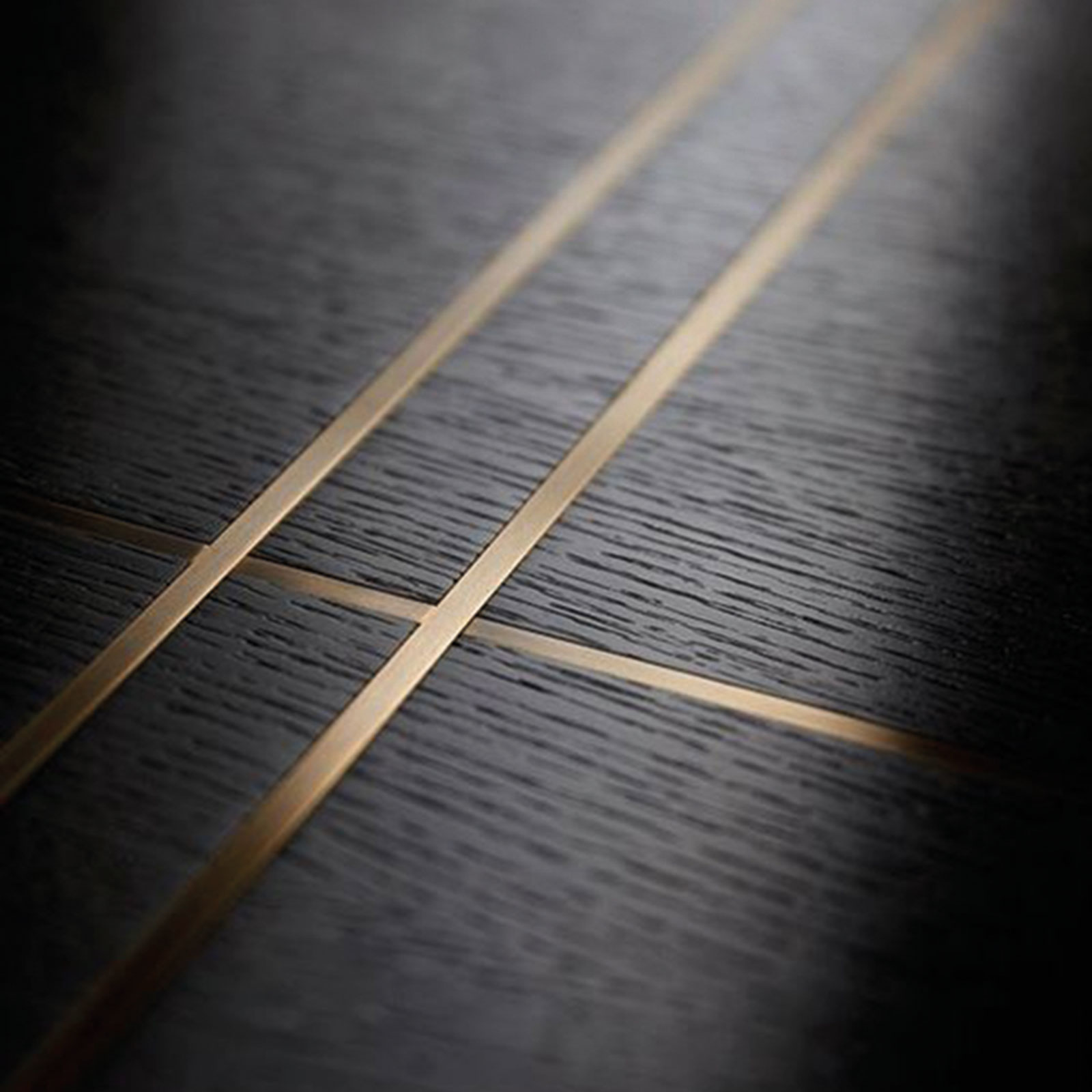 Bronze Inlays in a Black Wenge Floor | Element 7