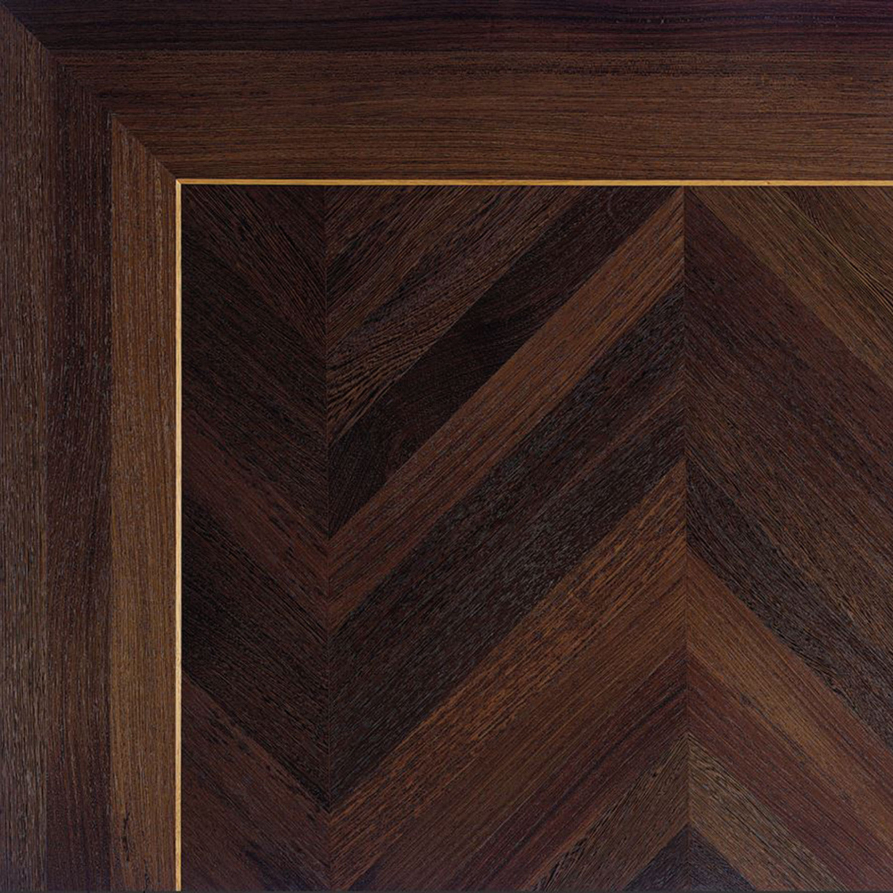 Brass Inlay in a Natural Wenge Floor | Element 7