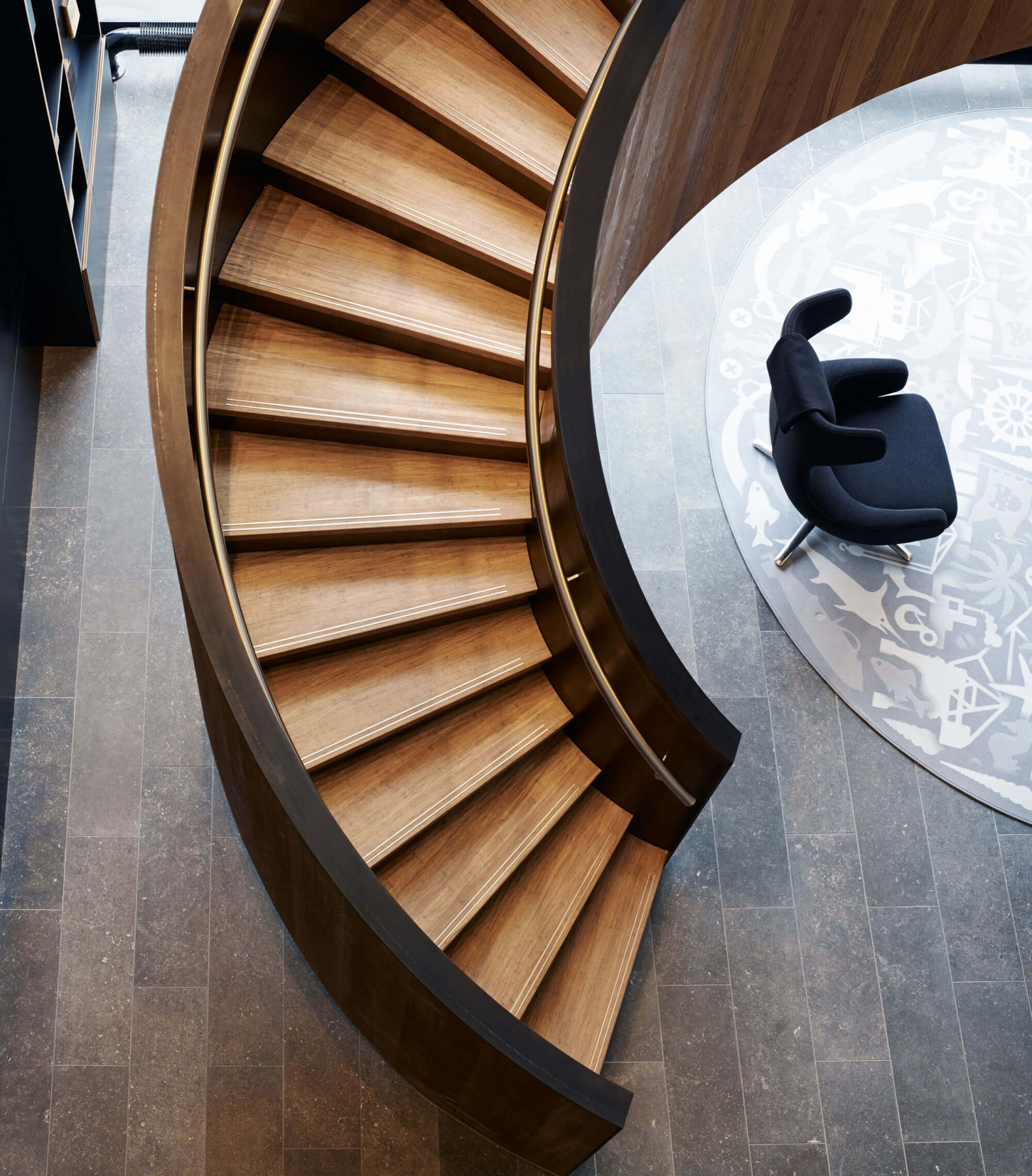 Stair Tread nosings | with inlaid brass | Element 7