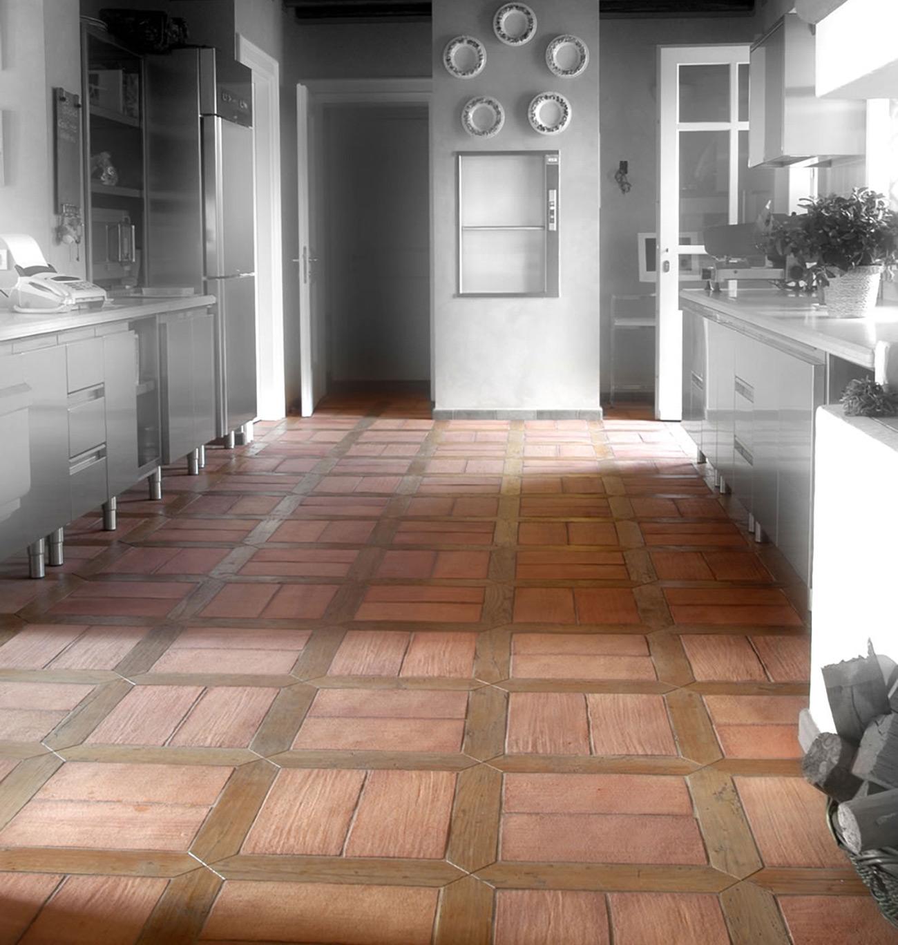 Reclaimed Terracotta and Oak | Panels | Element 7